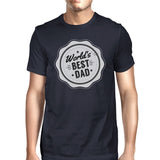 World's Best Dad Mens Navy Vintage Style Graphic