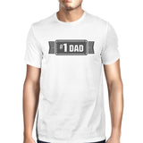 #1 Dad Mens White Vintage Graphic T-Shirt Fathers - Smart gadget & Accessories,Baby & toy