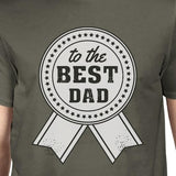 To The Best Dad Mens Dark Gray Unique Design Top