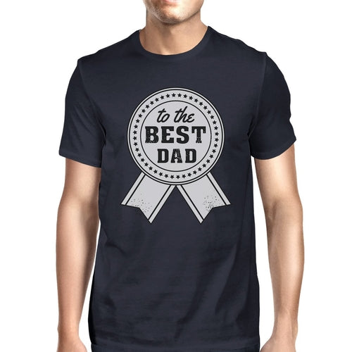 To The Best Dad Mens Navy Vintage Style Shirt
