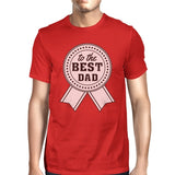 To The Best Dad Mens Red Funny Fathers Day T-Shirt