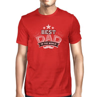 Best Dad In The World Mens Red Round Neck Cotton - Smart gadget & Accessories,Baby & toy