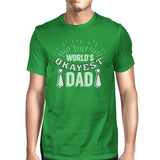 Worlds Okayest Dad Mens Green Unique Graphic