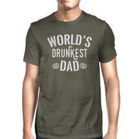 World's Drunkest Dad Mens Dark Gray Short Sleeve