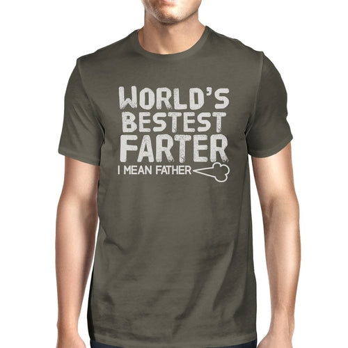 World's Bestest Farter Dark Gray Funny Design Tee