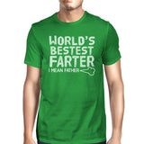 World's Bestest Farter Mens Green Round Neck