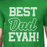 Best Dad Ever Men's Green Short Sleeve Cotton Top - Smart gadget & Accessories,Baby & toy