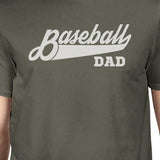 Baseball Dad Men's Dark Gray Cotton Shirt Funny - Smart gadget & Accessories,Baby & toy