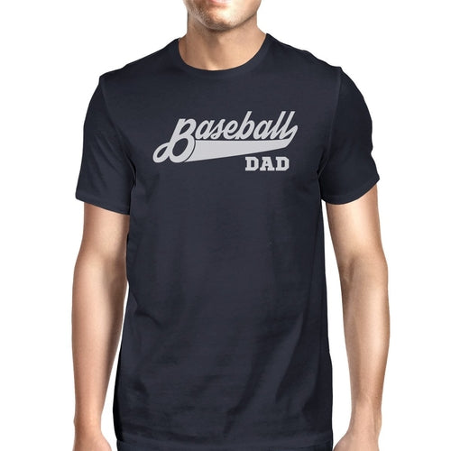 Baseball Dad Men's Navy Round Neck T Shirt Funny - Smart gadget & Accessories,Baby & toy