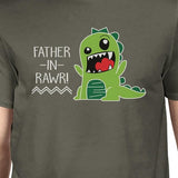 Father-In-Rawr Men's Dark Gray Funny Graphic Tee - Smart gadget & Accessories,Baby & toy