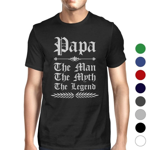 Vintage Gothic Papa Mens Popular Fathers Day Tee