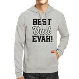 Best Dad Evah Unisex Grey Round Neck Hoodie For - Smart gadget & Accessories,Baby & toy