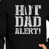 Hot Dad Alert Unisex Black Graphic Hoodie Cute - Smart gadget & Accessories,Baby & toy