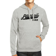 Baseball Dad Unisex Grey Hoodie Unique Cute Gifts - Smart gadget & Accessories,Baby & toy