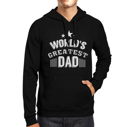 World's Greatest Dad Unisex Black Hoodie Funny