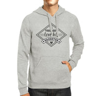 This Guy Love His Daughter Mens Grey Hoodie New