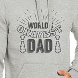 Worlds Okayest Dad Unisex Grey Hoodie For Dad