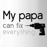 My Papa Fix White Coffee Mug Funny Fathers Day