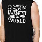 The Most Awesome Dad Men's Black Humorous Muscle