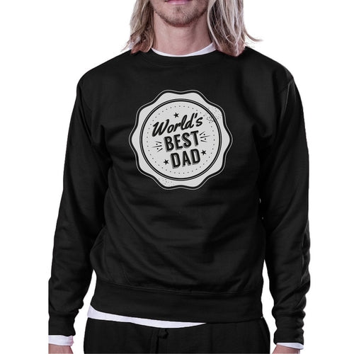 World's Best Dad Unisex Black Sweatshirt Christmas