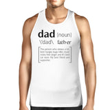 Dad Noun Mens White Graphic Tanks Unique Dad Gifts - Smart gadget & Accessories,Baby & toy