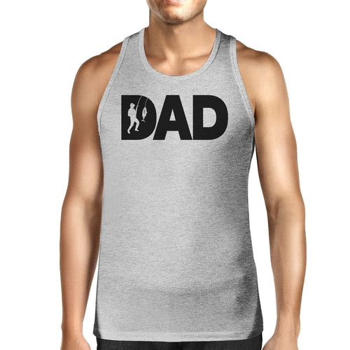 Dad Fish Mens Grey Tank Top Birthday Gift For Dad - Smart gadget & Accessories,Baby & toy