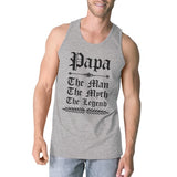 Vintage Gothic Papa Mens Lovely Gym Fathers Day
