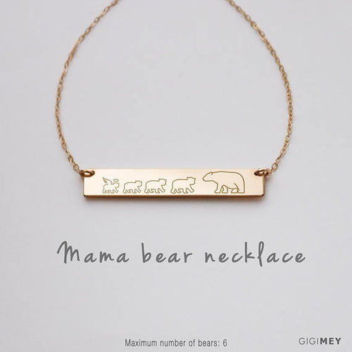 Mama Bear Necklace, Mama Cubbies, Mama Bear Baby - Smart gadget & Accessories,Baby & toy