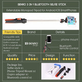 Selfie Stick mini Tripod 3 with Bluetooth Remote Shutter - Smart gadget & Accessories,Baby & toy