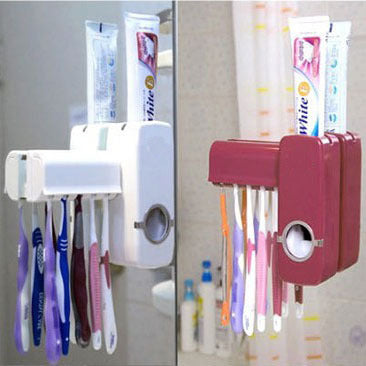 Automatic Toothpaste Dispenser  & Toothbrush Holder  Set Wall Mount - Life improvement item