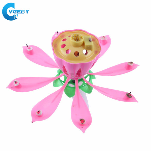 Self Open Lotus Candle - Smart gadget & Accessories,Baby & toy