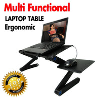Multi Functional Ergonomic Mobile Laptop Table Stand with mouse pad space
