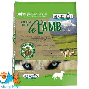 Addiction Le Lamb NZ Grain Free Dry Dog Food - Available in 1.8kg, 9kg & 15kg