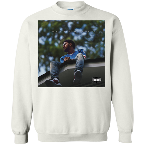 2014 Forest Hills Drive Album Cover Sweatshirt - White