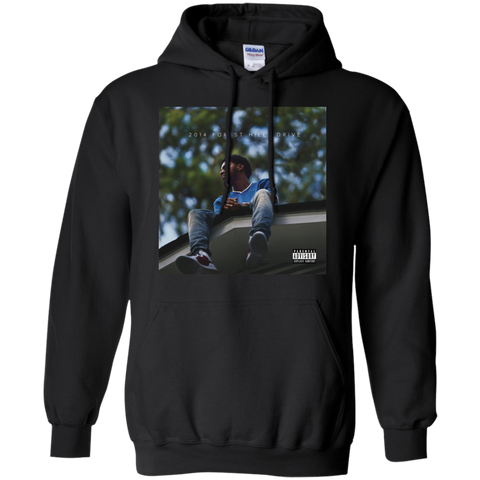 2014 Forest Hills Drive Album Cover Hoodie - Black