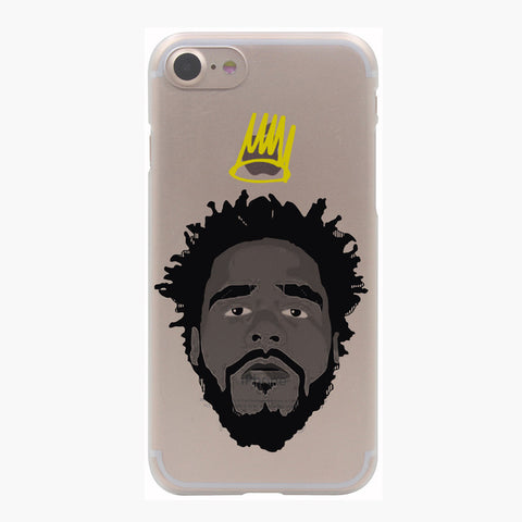 J Cole Born Sinner Gold Crown Face iPhone Skin