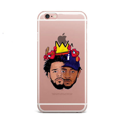 J Cole & Kendrick Lamar Crown iPhone Case