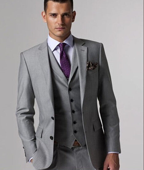 Custom Light Gray Tailcoat Suit - The Luxury Vibe
