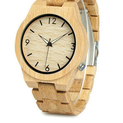 BOBO BIRD WD27 Bamboo Wooden Watch for Men Unique Lug Design Top Brand Luxury Quartz Wood Band Night Green Pointer Wrist Watches - The Luxury Vibe