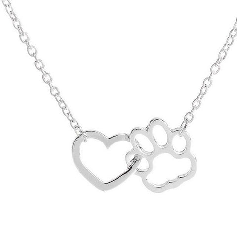 LUX Dog Paw With Love Necklace - The Luxury Vibe