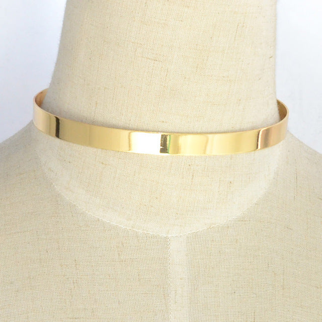 LUX 10MM Metal Cuff Collar - The Luxury Vibe