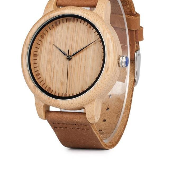 BOBO BIRD Bamboo Wood Watches for Men and Women Fashion Casual Leather Strap Wrist Watch Male Relogio C-A15 Accept DROP SHIPPING - The Luxury Vibe