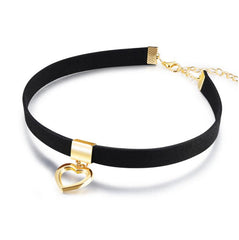 Love Choker Necklace Stretch Velvet - The Luxury Vibe
