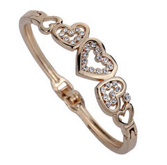 LUX Hollow Heart Bangle