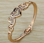 LUX Hollow Heart Bangle - The Luxury Vibe