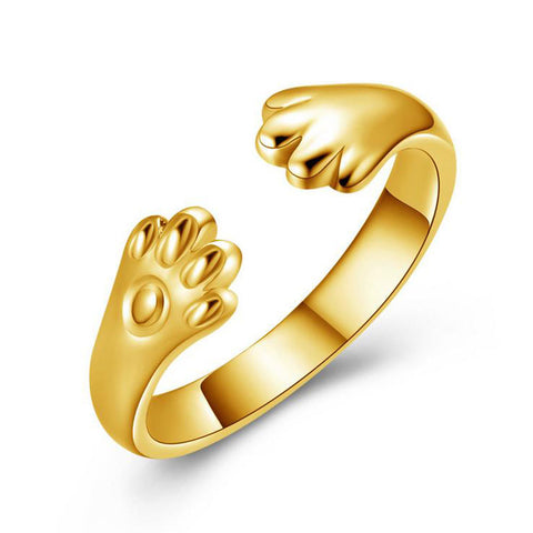 GOLD/SILVER Cat Paw Ring - The Luxury Vibe
