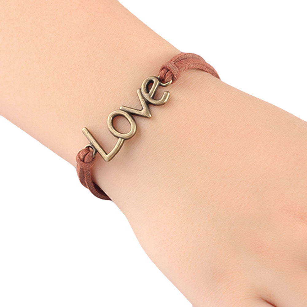 Retro Nostalgia Leather Love Bracelet - The Luxury Vibe