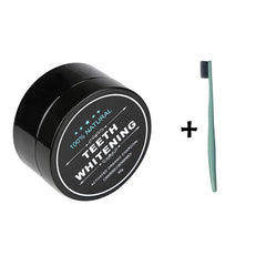 LUX Teeth Whitening Activated Charcoal Powder + Bamboo Toothbrush - The Luxury Vibe