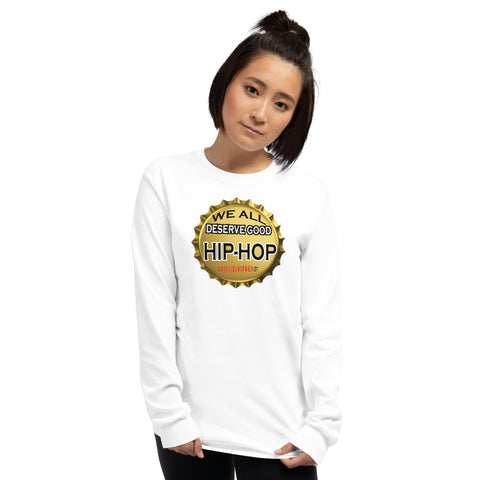 Deserve Good Hip-Hop (Bottle Cap) Long Sleeve - SpitFireHipHop