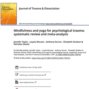 Systematic review and meta-analysis of mindfulness and yoga for psychological trauma